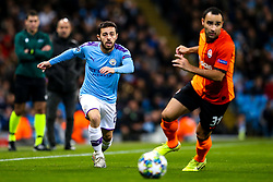 Bernardo Silva of Manchester City takes on Ismaily of Shakhtar Donetsk - Mandatory by-line: Robbie Stephenson/JMP - 26/11/2019 - FOOTBALL - Etihad Stadium - Manchester, England - Manchester City v Shakhtar Donetsk - UEFA Champions League Group Stage