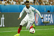 England Forward Daniel Sturridge during the Round of 16 Euro 2016 match between England and Iceland at Stade de Nice, Nice, France on 27 June 2016. Photo by Andy Walter.