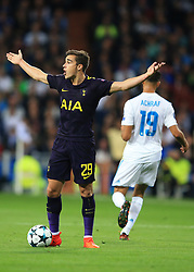 17 October 2017 -  UEFA Champions League - (Group H) - Real Madrid v Tottenham Hotspur - A frustrated Harry Winks of Tottenham Hotspur - Photo: Marc Atkins/Offside