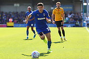 AFC Wimbledon midfielder Callum Reilly (33) running down the wing during the EFL Sky Bet League 1 match between AFC Wimbledon and Bristol Rovers at the Cherry Red Records Stadium, Kingston, England on 21 September 2019.