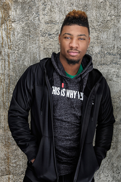 Sports Advertising portrait of NBA athlete Marcus Smart of the Boston Celtics by Michel Leroy PHOTOGRAPHER