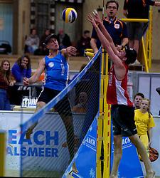 04-01-2020 NED: NK Beach volleyball Indoor, Aalsmeer<br /> Steven van de Velde, Sven de Koe #2