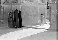 Little girl and three women, Isfahan Iran, 1970