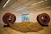 Brumadinho_MG, Brasil...Museu de Arte Contemporanea de Inhotim (CACI). Na Foto a obra To Draw a Line...Inhotim Contemporary Art Museum (CACI). In this photo the art To Draw a Line...Foto: JOAO MARCOS ROSA /  NITRO