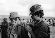 Manuel Melgar (current Minister of Security) is the star of the National Army Commander for Democracy in Gualcho, Usulutan 1991. photo: Edgar ROMERO/Imagenes Libres).