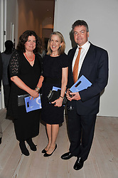 Left to right, SUSIE TINSLEY, NANCY CASSERLEY and TIM COLERIDGE at a fundraising party hosted by the Kensington and Chelsea Foundation at The Saatchi Gallery, Kings Road, London on 27th September 2011.