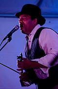 Blues Musicians perform live for the Animas River Blues & Brews music festival. Aztec, New Mexico.