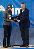 Paolo Barelli Presidente FIN<br /> Federico Sboarina Sindaco Verona<br /> Italy ITA (White cup) Vs Hungary HUN (Blue cup)<br /> Waterpolo Women's FINA Europa Cup<br /> Piscina Monte Bianco - Verona VR<br /> Photo Pasquale Mesiano/ Deepbluemedia /Insidefoto