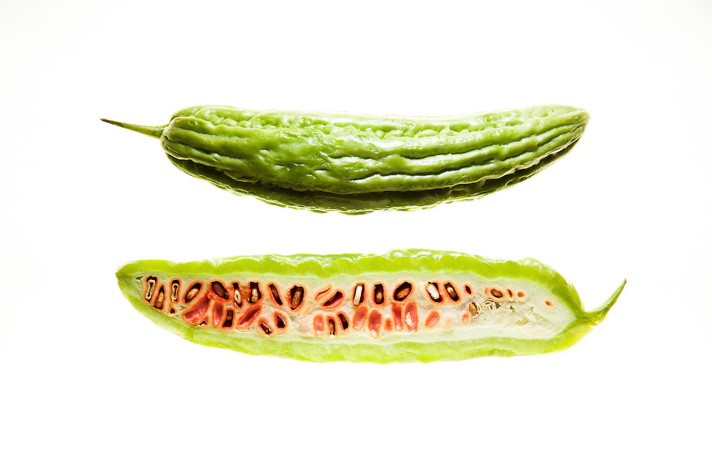 Momordica charantia, called bitter melon or bitter gourd in English, is a tropical and subtropical vine of the family Cucurbitaceae, widely grown in Asia, Africa, and the Caribbean for its edible fruit, which is among the most bitter of all fruits.