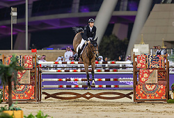 BRASH Scott (GBR), Hello Senator<br /> Doha - CHI Al SHAQAB 2020<br /> - Stechen -<br /> Commercial Bank CHI Al Shaqab Grand Prix presented by LONGINES<br /> Int. jumping competition over two rounds and jump-off (1.60 m)<br /> 29. Februar 2020<br /> © www.sportfotos-lafrentz.de/Stefan Lafrentz