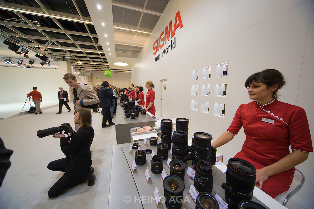 Photokina 2008, World's bigest bi-annual photo fair. Sigma lenses can be tried by visitors.