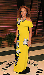 Diane von Furstenberg arrives at the 2014 Vanity Fair Oscar Party in West Hollywood, California, USA,  Sunday, 2nd March 2014. Picture by Hollywood Bubbles / i-Images<br /> UK ONLY