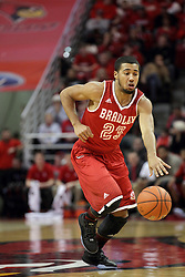 14 February 2016: Dwayne Lautier-Ogunleye during the Illinois State Redbirds v Bradley Braves at Redbird Arena in Normal Illinois (Photo by Alan Look)