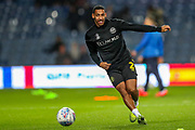 Brentford defender Dominic Thompson (2) warms up during the EFL Sky Bet Championship match between Queens Park Rangers and Brentford at the Kiyan Prince Foundation Stadium, London, England on 28 October 2019.