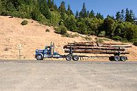 Logging Truck on U.S. Highway 101, Humboldt County, California