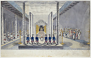 VOC Delegation at an Audience with the King Kandy, Sri Rajadi Raja Sinha<br /> from Jan Brandes album.