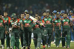 March 10, 2018 - Colombo, Sri Lanka - Bangladesh cricketer  Mushfiqur Rahim after winning the 3rd T20 cricket match of NIDAHAS Trophy between Sri Lanka  and Bangladesh at R Premadasa cricket ground, Colombo, Sri Lanka on Saturday 10 March 2018. (Credit Image: © Tharaka Basnayaka/NurPhoto via ZUMA Press)