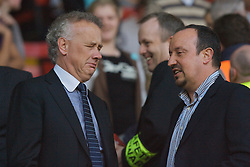 LIVERPOOL, ENGLAND - Wednesday, May 7, 2008: Liverpool's manager Rafael Benitez and Chief-Executive Rick Parry during the play-off final of the FA Premier League Reserve League at Anfield. (Photo by David Tickle/Propaganda)