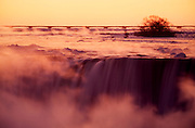 Niagara Falls. Horseshoe Falls seen from the Canadian side at sunrise.