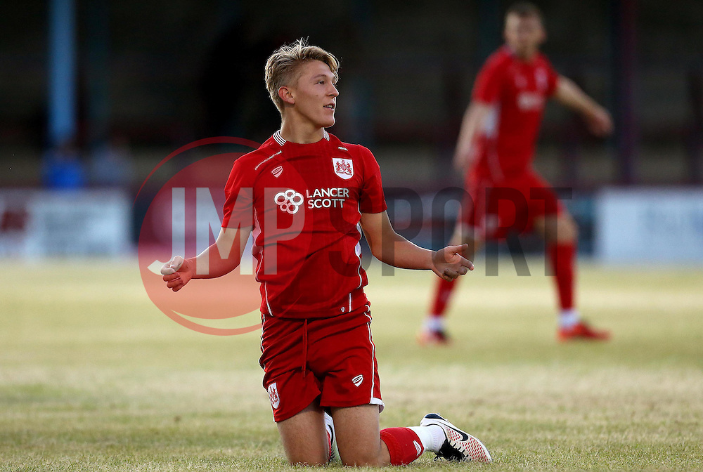 Jake Andrews of Bristol City Under 21s takes part in the friendly with Weymouth - Mandatory by-line: Robbie Stephenson/JMP - 13/07/2016 - FOOTBALL - Bob Lucas Stadium - Weymouth, England - Weymouth FC v Bristol City Under 21s - Pre-season friendly