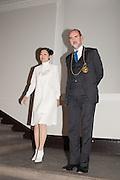 MARIKO MORI; CHRISTOPHER LE BRUN, Mariko Mori opening, Royal Academy Burlington Gardens Gallery. London. 11 December 2012.