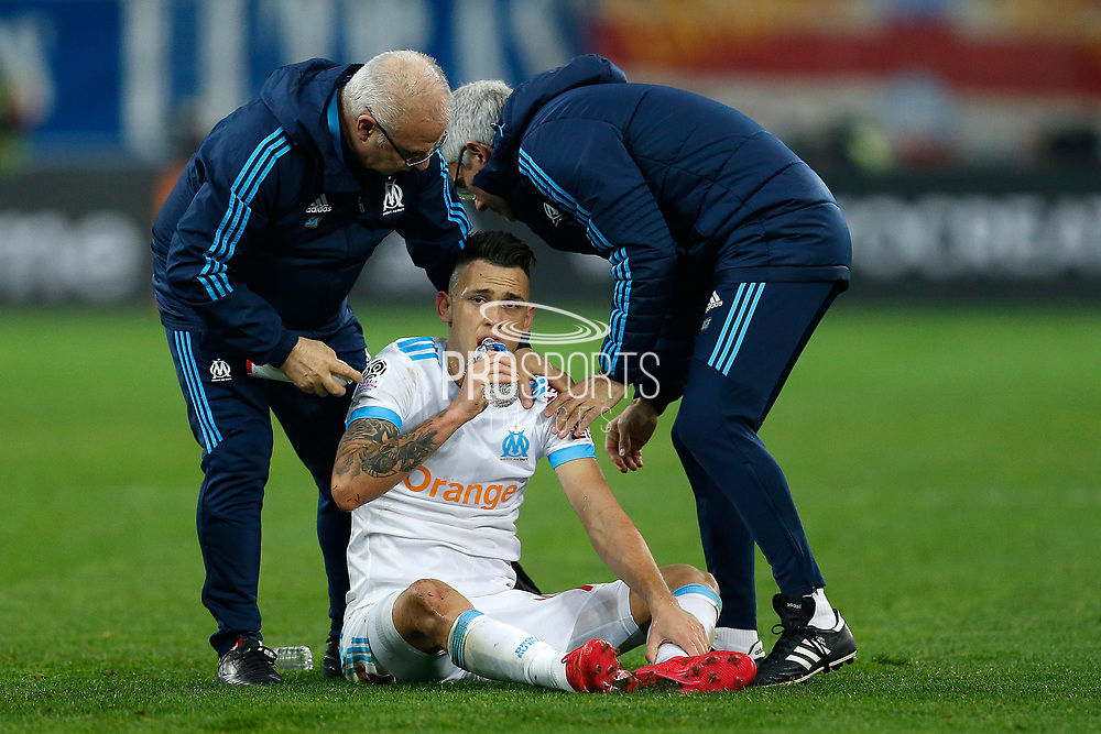 Olympique de Marseille's Argentinian forward Lucas Ocampos reacts during the French Championship Ligue 1 football match between Olympique de Marseille and AS Monaco on January 28, 2018 at the Orange Velodrome stadium in Marseille, France - Photo Benjamin Cremel / ProSportsImages / DPPI