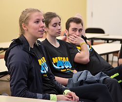 PLU's Nicaragua 2015 crew preparing for their Saturday departure on Friday, March 20, 2015. (Photo: John Froschauer/PLU)