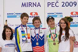 Tadej Lemut, Marko Curk and Klemen Furman at Slovenian National Championships in Road cycling, 178 km, on June 28 2009, in Mirna Pec, Slovenia. (Photo by Vid Ponikvar / Sportida)