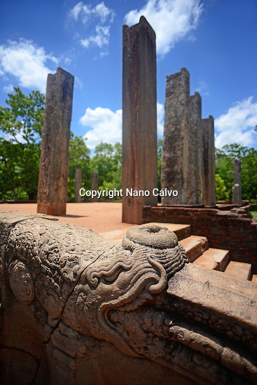 Ratnaprasada or Jewel Palace ruins in Anuradhapura, Sri Lanka