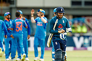 England ODI batsman Jonny Bairstow is out caught during the 3rd Royal London ODI match between England and India at Headingley Stadium, Headingley, United Kingdom on 17 July 2018. Picture by Simon Davies.