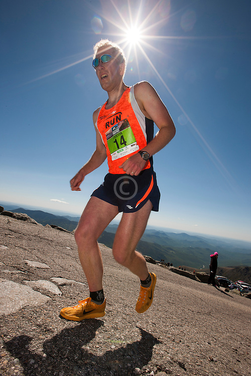 53rd Mt Washington 7.6 mile Road Race Base to Summit: Justin Freeman nears finish