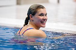 Grace Reid of Great Britain is all smiles - Mandatory byline: Rogan Thomson/JMP - 11/05/2016 - DIVING - London Aquatics Centre - Stratford, London, England - LEN European Aquatics Championships 2016 Day 3.