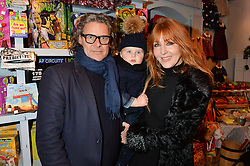 LONDON, ENGLAND 1 DECEMBER 2016: George Waud, Valentine Waud, Charlotte Tilbury at the 10th birthday party for the toy shop HoneyJam, 2 Blenheim Crescent, Notting Hill, London, England. 1 December 2016.