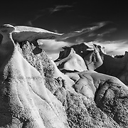 Wing Hoodoos - Bisti Badlands - New Mexico - Black & White