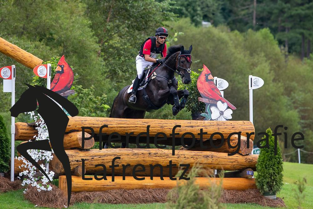HUA TIAN Alex (CHN), Bellytiglea Vivenda<br /> Tryon - FEI World Equestrian Games™ 2018<br /> Vielseitigkeit Teilprüfung Gelände/Cross-Country Team- und Einzelwertung<br /> 15. September 2018<br /> © www.sportfotos-lafrentz.de/Sharon Vandeput