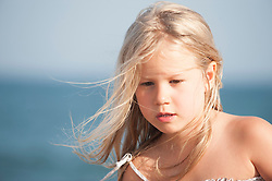 adorable blonde child outdoors