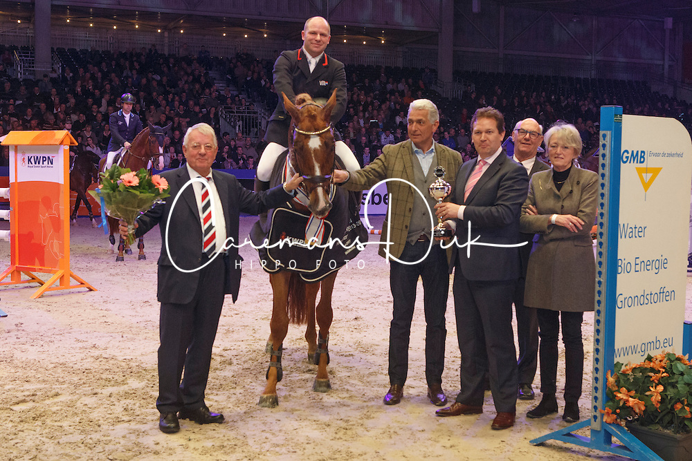 Parmler Niclas - Do Spiritivo<br /> KWPN Stallion Selection - 's Hertogenbosch 2014<br /> © Dirk Caremans