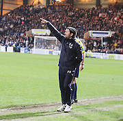 Dundee manager Paul Hartley urges his team forward - Dundee v Dundee United - SPFL Premiership at Dens Park<br /> <br />  - &copy; David Young - www.davidyoungphoto.co.uk - email: davidyoungphoto@gmail.com