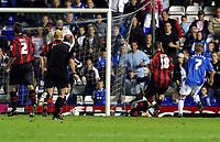 Photo: Dave Linney.<br />Birmingham City v Shrewsbury Town. Carling Cup. 22/08/2006.Birminghams Sebastian Larsson(7) fires home the winner for Blues