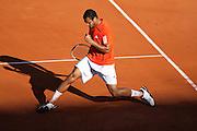 Roland Garros. Paris, France. 23 Mai 2010..Le joueur francais Jo-Wilfried TSONGA contre Daniel BRANDS...Roland Garros. Paris, France. May 23rd 2010..French player Jo-Wilfried TSONGA against Daniel BRANDS.