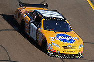 Nov. 15, 2009; Avondale, AZ, USA; NASCAR Sprint Cup Series driver Kyle Busch during the Checker O'Reilly Auto Parts 500 at Phoenix International Raceway. Mandatory Credit: Jennifer Stewart-US PRESSWIRE