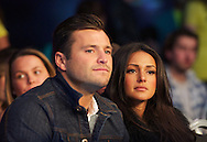 Picture by Alan Stanford/Focus Images Ltd +44 7915 056117<br /> 16/11/2013<br /> Mark Wright and Michelle Kegan watch the fight between James Degale v Dyah Davis for the <br /> WBC super-middleweight title at Glow Bluewater, Greenhithe.
