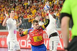 Aguinagalde Julen of Spain during handball match between National teams of Macedonia and Spain on Day 4 in Main Round of Men's EHF EURO 2018, on January 21, 2018 in Arena Varazdin, Varazdin, Croatia. Photo by Mario Horvat / Sportida
