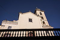 SOVERIA MANNELLI, ITALY - 17 NOVEMBER 2016: The mother-church is seen here in Soveria Mannelli, a mountain-top village in the southern region of Calabria that counts 3,070 inhabitants, Italy, on November 17th 2016.<br /> <br /> The town was a strategic outpost until the 1970s, when the main artery road from Naples area to Italy's south-western tip, Reggio Calabria went through the town. But once the government started building a motorway miles away, it was cut out from the fastest communications and from the most ambitious plans to develop Italy's South. Instead of despairing, residents benefited of the geographical disadvantage to keep away the mafia infiltrations, and started creating solid businesses thanks to its administrative stability, its forward-thinking mayors and a vibrant entrepreneurship numbering a national, medium-sized publishing house, a leading school furniture manufacturer and an ancient woolen mill.