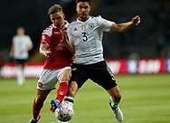 FOOTBALL: Jens Stryger Larsen (Denmark) and Jonas Hector (Germany) battle for the ball during the Friendly match between Denmark and Germany at Brøndby Stadion on June 6, 2017 in Brøndby, Denmark. Photo by: Claus Birch / ClausBirch.dk.