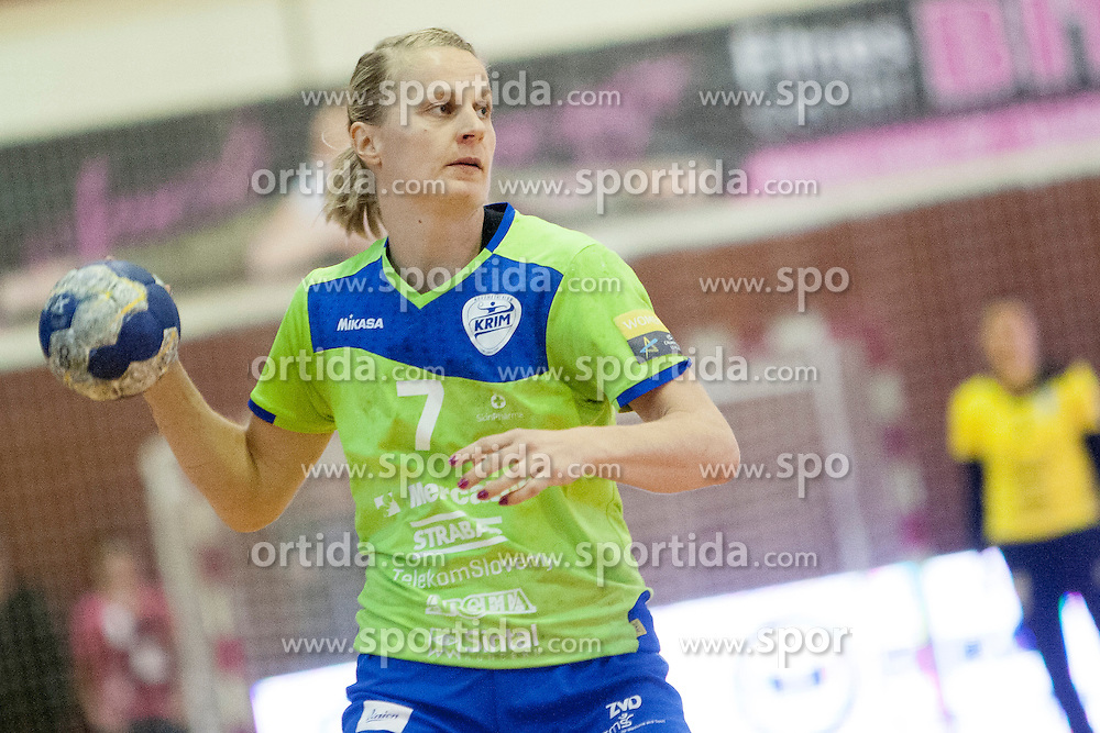 Nina Worz of RK Krim Mercator during handball game between RK Krim Mercator and RK GEN-I Zagorje in second final game of Slovenian National Championship 2013/2014, on May 17, 2014 in Arena Krim Galjevica, Ljubljana, Slovenia. Photo by Urban Urbanc / Sportida