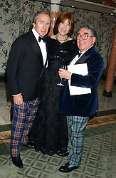 Left to right, SIR JACKIE & LADY STEWARTand RONNIE CORBETT at the Dyslexia Awards Dinner attended by HRH The Countess of Wessex held at The Dorchester Hotel, Park Lane, London on 9th November 2005.<br />