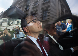 Image ©Licensed to i-Images Picture Agency. 25/06/2014. London, United Kingdom. Andy Coulson in court again as jury consider more charges. Andy Coulson leaves court this afternoon as jury has been discharged  after yesterday was found guilty of a charge of conspiracy to intercept voicemails. Old Bailey. Picture by Daniel Leal-Olivas / i-Images