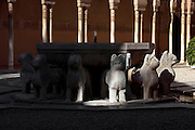 Courtyard of the Lions; 1362; Second reign of Muhammad V; Nasrid Palace; The Alhambra, Granada, Andalusia, Spain Picture by Manuel Cohen