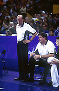 Tall Blacks coaches Keith Mair and Stan Hill during the basketball match between New Zealand and China at the Olympic Games, Sydney Australia, 2000. Photo: PHOTOSPORT<br />